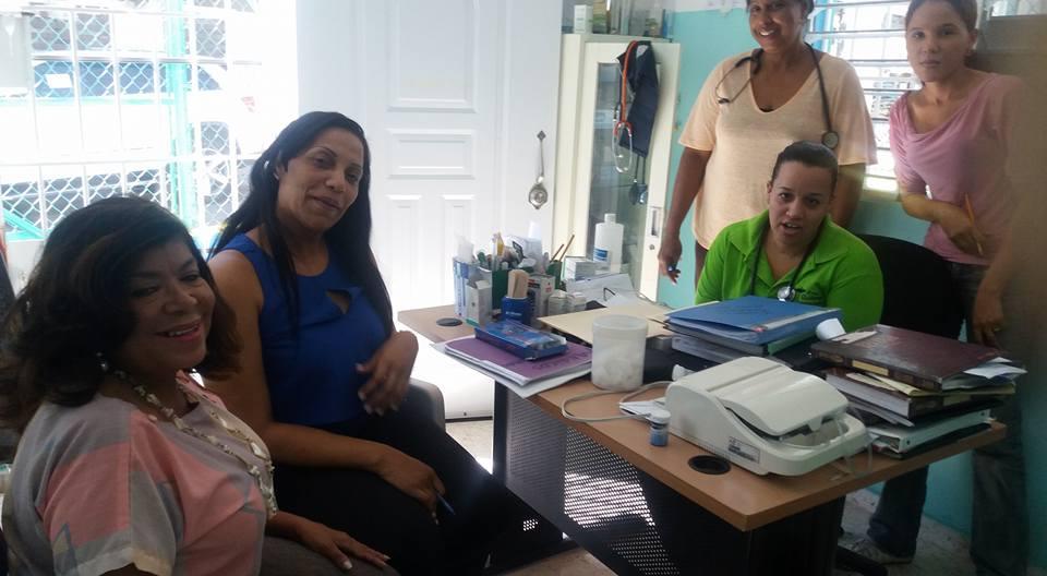 Dra. Derca Reyes supervisa distintos Centros de Primer Nivel de Salud.