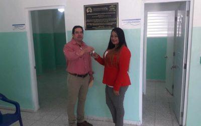 Gerencia de Área de Salud de Hato Mayor recibe remodelado Centro de Primer Nivel en Salud de la comunidad Morquecho.