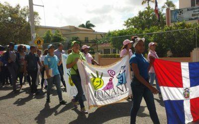 CONANI y demás instituciones que trabajan en beneficio de la niñez realizan caminata contra abuso infantil.