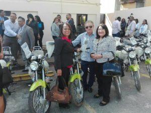 Servicio Regional de Salud Este recibe motocicletas por parte del SNS para transporte de muestras biologicas.