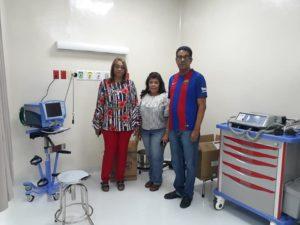 Dra. Derca Reyes supervisa equipamiento de nueva emergencia de hospital Antonio Musa.