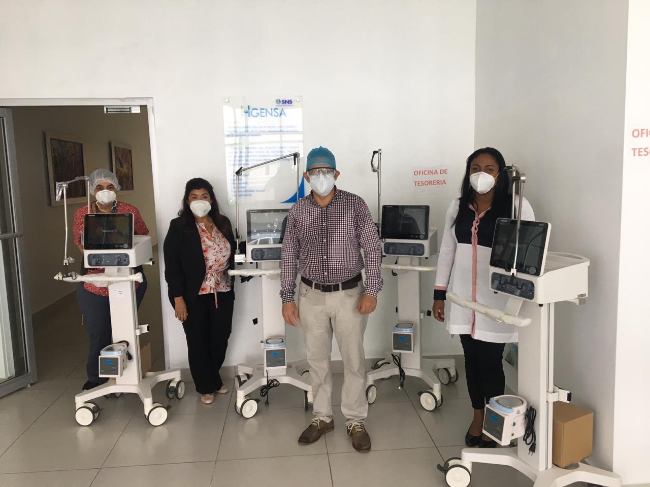 Hospital General y de Especialidades Nuestra Señora de La Altagracia recibe nuevos ventiladores para pacientes Covid 19