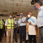Presidente Abinader y director del SNS visitan hospital Antonio Musa