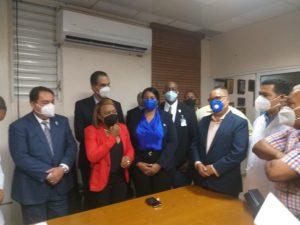 Dr. Mario Lama visita hospital Antonio Musa donde expresa que el gobierno prioriza trabajos en ese centro de salud