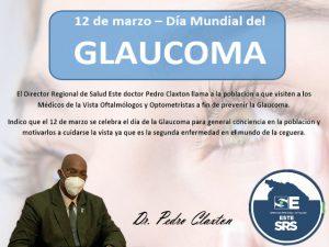 Director Regional de Salud Este llama a la poblacion a prevenir la Glaucoma.
