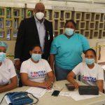Director Regional   Este de Salud Visita Centros de Vacunación, donde se aplica vacuna Pfizer contra el Covid19.